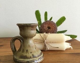 Australian Signed Pottery Candlestick