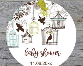 Baby Shower Sticker Baby Shower Labels Gift Stickers Baby Shower Favor Tags Custom Flower Baby Shower Labels Ready to Pop Sticker