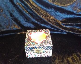 Diamante wooden trinket box.