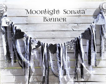 "Black &  White ""Moonlight Sonata"" Banner"