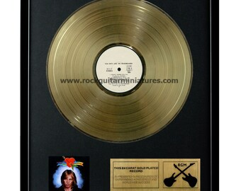 "Tom Petty and The Heartbreakers Gold Disk 24K Plated 12"" LP (1140)"