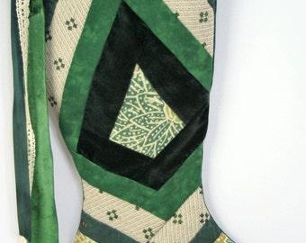 Handmade Patchwork Christmas Stocking (item RB169)