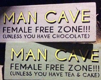Rustic personalised man cave signs
