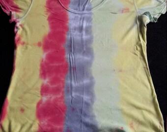 Striped tie dye shirt