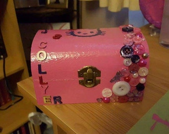 Treasure Chest Personalised Trinket Box