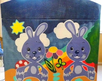 Blue star Bunny-chest for the children