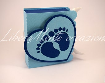 Book shaped box for birth and Baptism