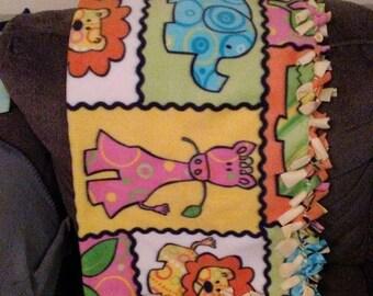 Tie baby fleece blanket