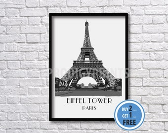 Eiffel Tower art print, Paris Art Print, Eiffel Tower poster.