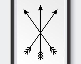 Minimalist, Arrows, Art Print, Instant Download, Wall Art
