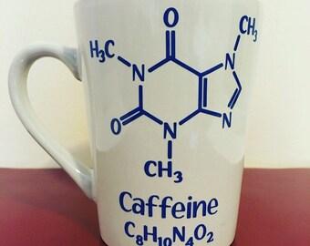 Coffee Mug- Funny Mug- Chemistry Mug- Caffeine Molecule