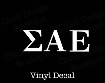 sigma alpha epsilon greek alphabet letters vinyl decal
