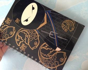notebook black ninja kawaii