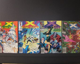 X-Factor, 4 Marvel comics, #27, #28, #29, #36, all VF nice copies