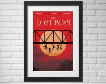 The Lost Boys Movie Poster llustration [The Lost Boys Movie Poster / The Lost Boys]