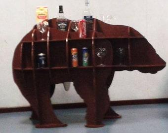 Bear Animal Interior Design Decoration Hand Made Wooden Shelf