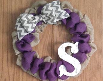 Custom design your own monogram wreath