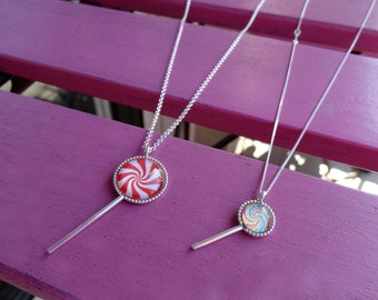 Collar caramelo , Collar piruletas , Collar plata , Lollipop Necklace , Candy necklace , Silver necklace , Sweet necklace , Candy jewelry