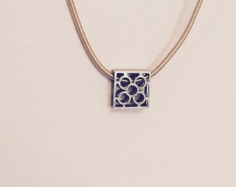 Necklace with BARCELONA tile bronze thread