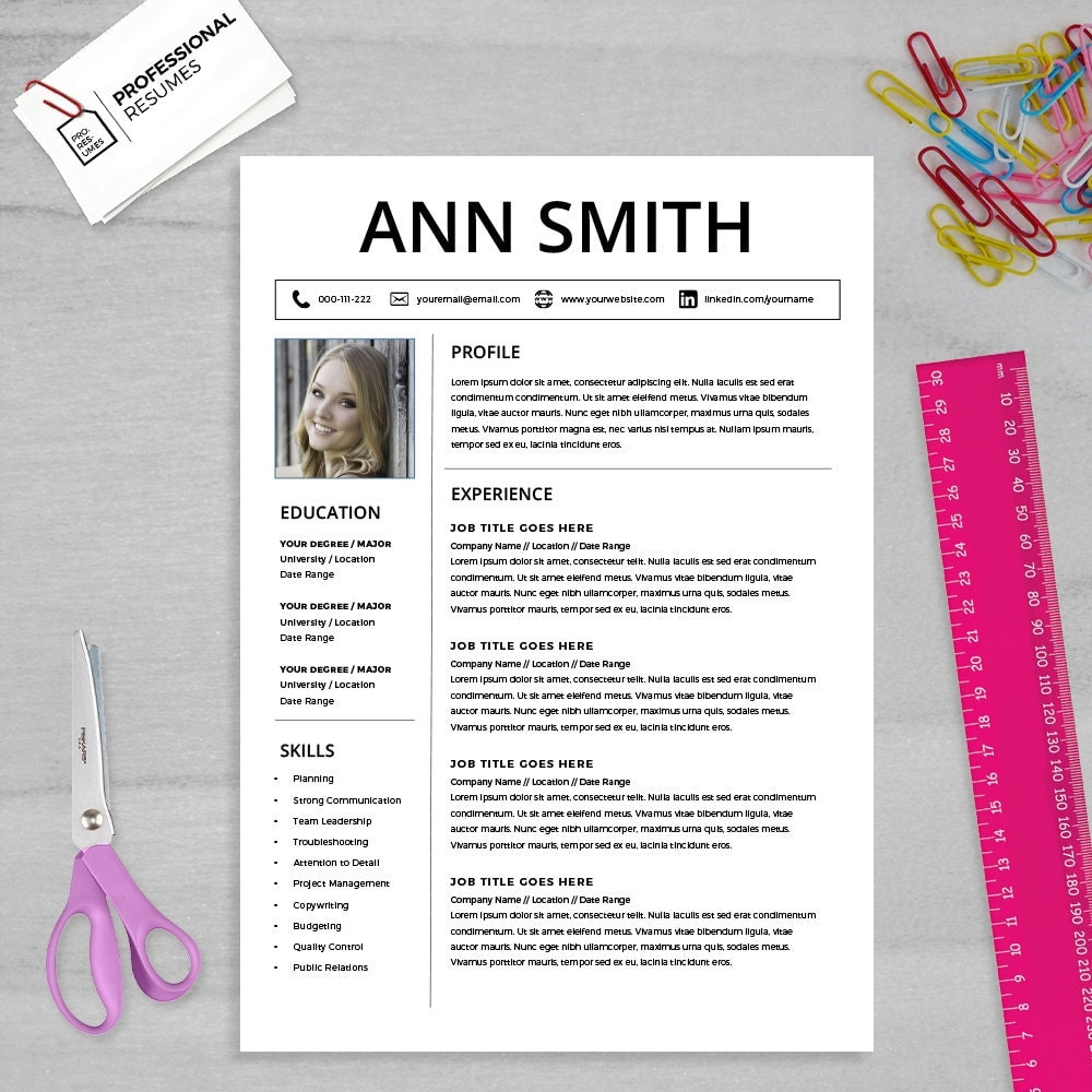 template for cv word
