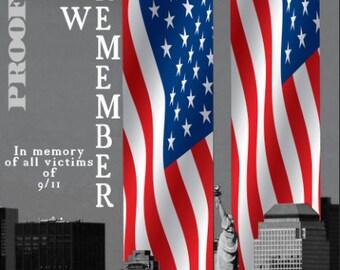 911 Tribute United Flag LAMINATED Cornhole Wrap Bag Toss Decal Baggo Skin Sticker Wraps