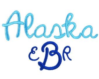Alaska Embroidery Font
