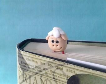 Sheep Paperclip Bookmark - 1 Polymer Clay Bookmark, Sheep Gifts