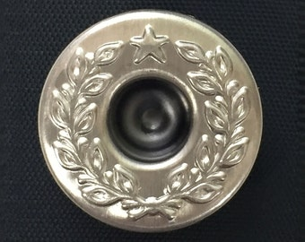 "Real silver One-star 17mm ""FS-SSV-17"" Donut Button [1 piece]"