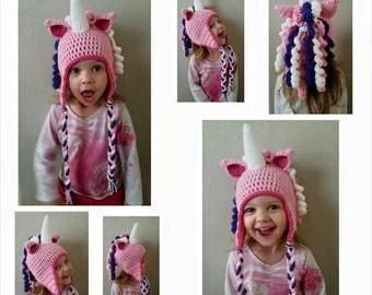 Crochet Unicorn Hat, crochet horse hat, kids hats, girls hats, handmade gifts, gift ideas, unicorn hats,
