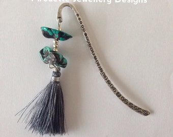 Bookmark with Turquoise gemstones