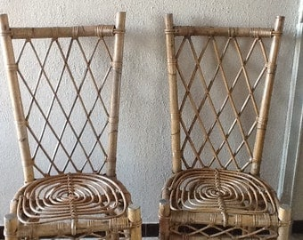 4 chairs vintage 60