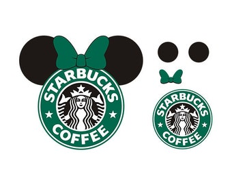 Minnie starbucks svg, Minnie ear starbukcs design, starbucks logo svg files