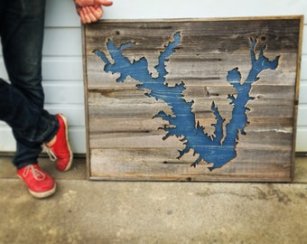 3D Lake Art // Custom Lake Sign // Custom Lake Map
