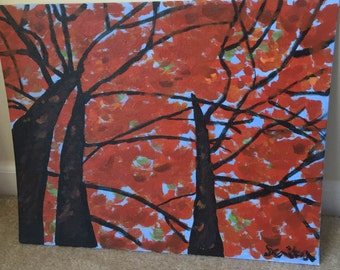 Fall Trees Painting