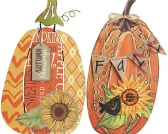 """Autumn Embellished Pumpkin TJ6633  9"""" X 17"""""""