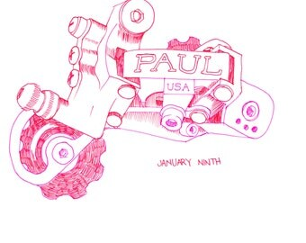 Drawing of Paul Bicycle Derailleur