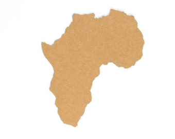 Africa Paper Cutout - 2-3/8 inches by 2 inches (PAFCA01)
