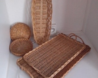 5 different forms Wicker baskets