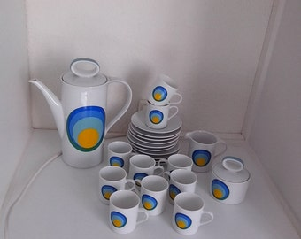 Service tea and coffee ESCHENBACH BAVARIA Germany colors Pop
