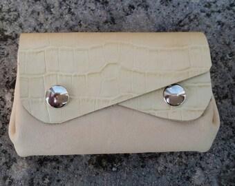 Door currency 5 pockets beige leather