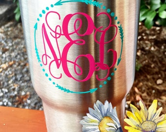 Ozark Tumbler Stainless Tumbler 30oz ozark Monogrammed cup Insulated cup like yeti orca Ozark Trail gift personalized monogram