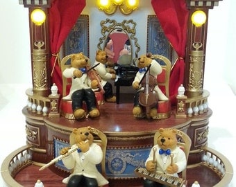 Mr. Christmas GOLD Label  MUSICAL Chairs Bear ORCHESTRA music & lights