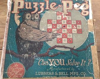 Vintage Wooden Puzzle Game