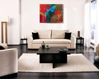 """24""""h x 30""""w Abstract Acrylic painting. Contemporary art. Abstract Art. Original Artwork. Original Abstract Painting."""