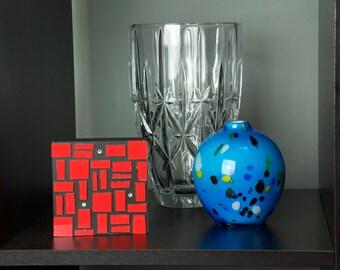 Red Glass Art, Glass Art, Wall Decor, Abstract Art, Home Decor, Colorful Art, Contemporary, Modern