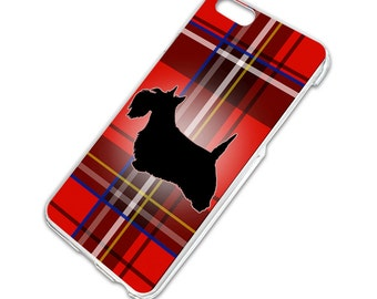 Scottie Dog on Red Plaid Scottish Terrier Slim Hard Case Fits Apple iPhone 6 6s