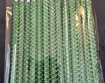 Green Rhinestone Bling Cake Pop Sticks 13/pk