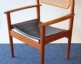 Grete Jalk Teak framed arm chair