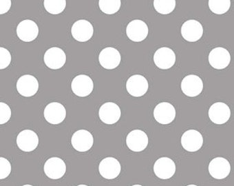 Medium Gray Dots Cotton Fabric - c360 40 Gray Riley Blake Designs - Gray Polka Dot Fabric - Gray Fabric - Printed Fabric Quilting Cotton