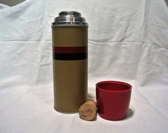 Vintage Metal Thermos with Original Cork!